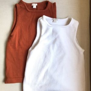 Set of 2 J. Crew knit tanks - XXS